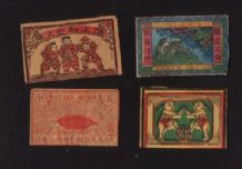 Patriotic Vintage match box labels Chinese or Japanese   #532
